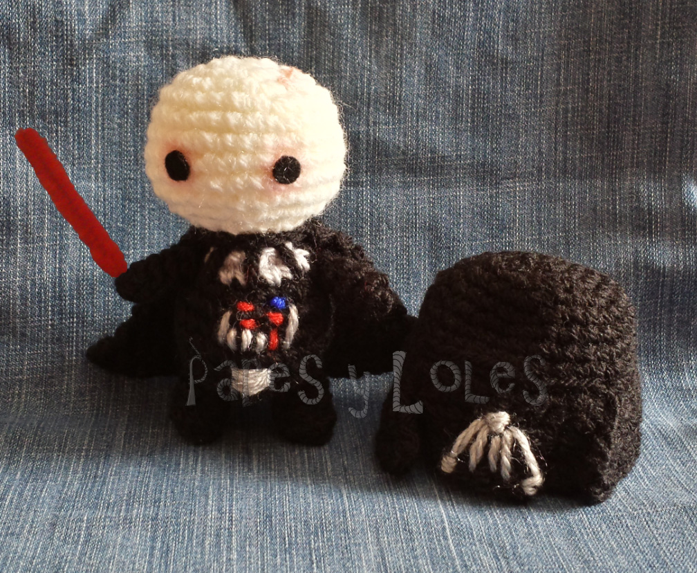 Free Amigurumi Snowman Crochet Patterns : Darth Vader Pares y Loles